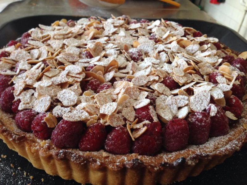 raspberry-almond-tart